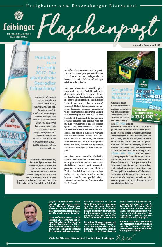 Flaschenpost Frühjahr 2017