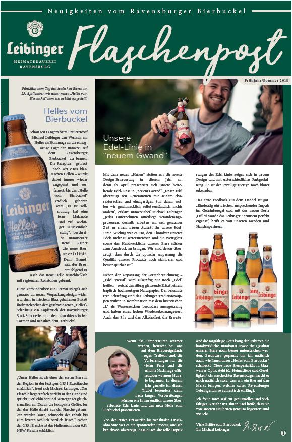 Flaschenpost Frühjahr 2018