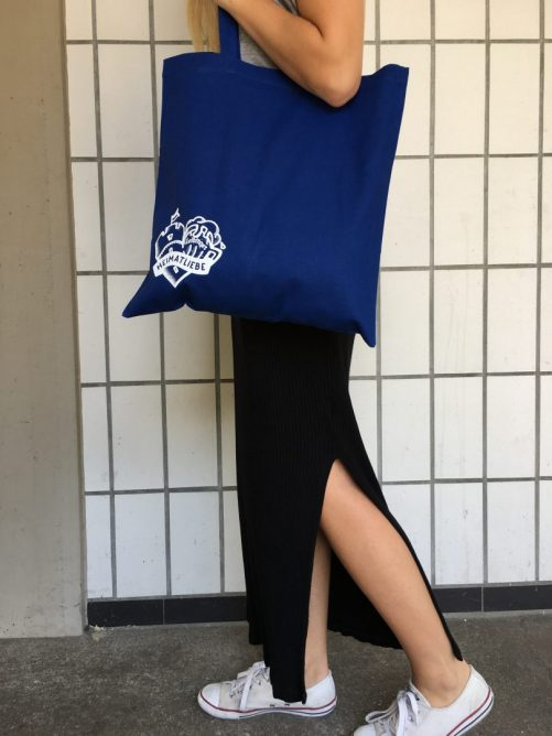 Heimatliebe Stofftasche blau