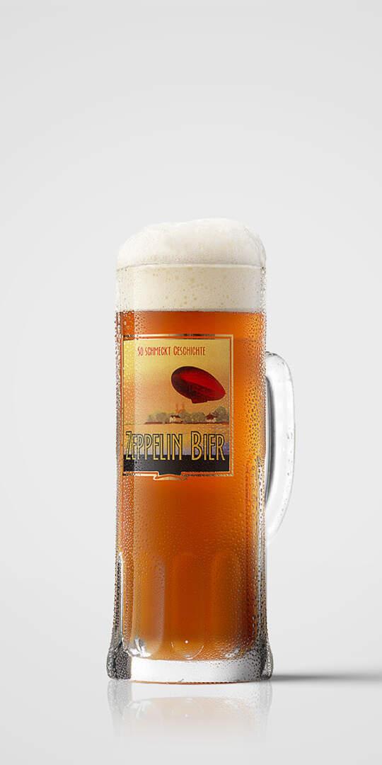 Zeppelin Glaskrug 0,5 l
