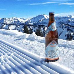 Leibinger Winterbier im Schnee