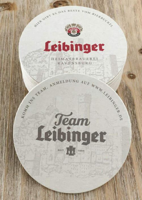 Team Leibinger Bierdeckel