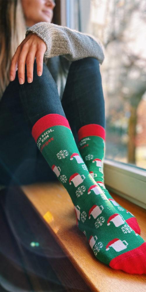 Weihnachtssocken grün