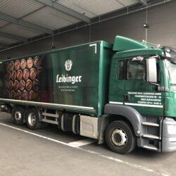 Leibinger Lastwagen auf der Ladestraße