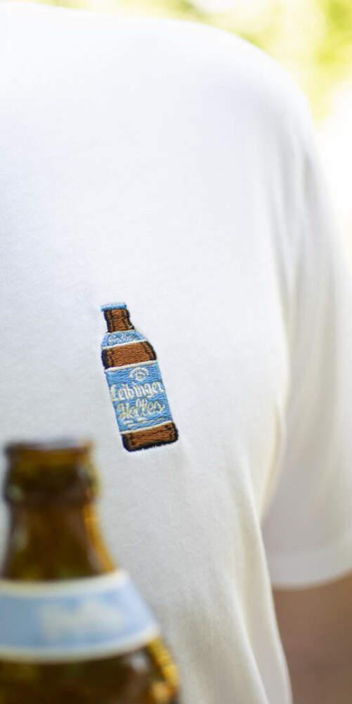 Stickerei Helles Fläschle